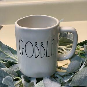 Rae Dunn GOOBLE THANKSGIVING coffee tea mug NWT